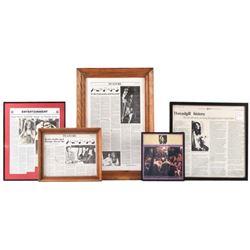 Janis Joplin Articles Framed