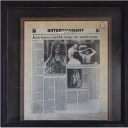 Janis Joplin Large Framed Article Outside