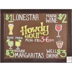 Threadgill's Howdy Hour Sign