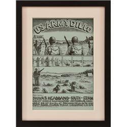 Jim Franklin Armydillo Concert Poster