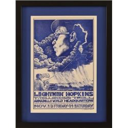 Jim Franklin Lightin' Hopkins Armadillo WHQ Poster