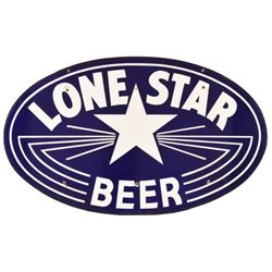 Lone Star Beer Double Sided Porcelain Sign