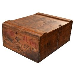Lone Star Brewing Co. Alamo Beer Wood Crate