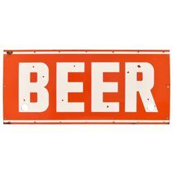 Beer Porcelain Sign