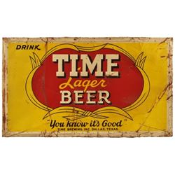 Time Lager Beer Tin Sign Dallas Texas