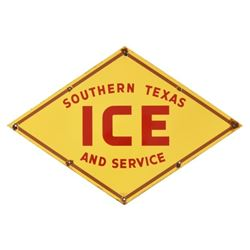 Southern Texas Ice & Service Porcelain Sign