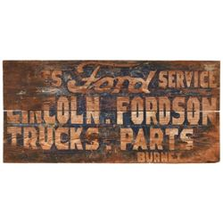 Ford Service Painted Wood Sign Burnet Texas