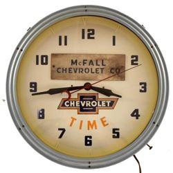 Chevrolet Time Neon Advertising Clock