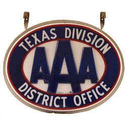 AAA Texas Division District Office Lighted Sign