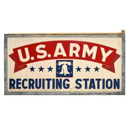 US Army Recruiting Station Sign
