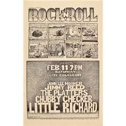 John Lee Hooker City Coliseum Jim Franklin Poster