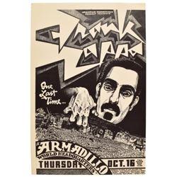 Frank Zappa Armadillo World Headquarters Poster
