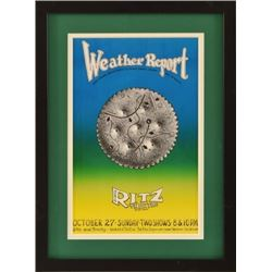 Weather Report Ritz Theater Poster by Jim Franklin