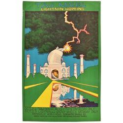Taj Majal Armadillo World HQ Poster Jim Franklin