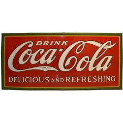 Large Coca-Cola Porcelain Sign