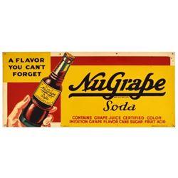NuGrape Soda Tin Sign