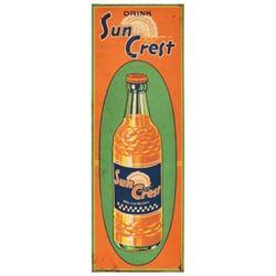 Sun Crest Soda Tin Sign