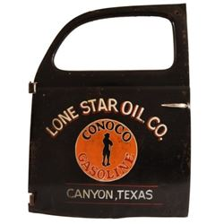 Lone Star Oil Co. Conoco Gasoline Painted Door