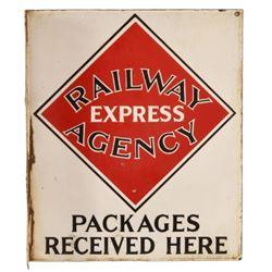 Railway Express Agency Porcelain Flange Sign