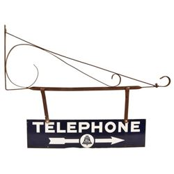 Bell System Porcelain Sign With Bracket