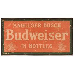 Anheuser-Busch Budweiser In Bottles Cardboard Sign