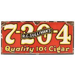 R.G. Sullivan's 7-20-4 Cigar Porcelain Sign