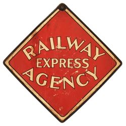 Railway Express Agency Double Sided Cardboard Sign