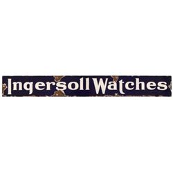Ingersoll Watches Porcelain Sign