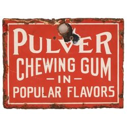 Pulver Chewing Gum Porcelain Sign