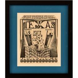 Vulcan Gas Co. Tejxas Handbill By Jim Franklin