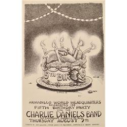 Armadillo WorldHQ 5th Birthday Poster Jim Franklin