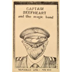 AWHQ Captain Beefheart Poster By Jim Franklin