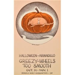 AWHQ Halloween Armadillo Poster By Jim Franklin