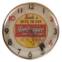 Dr Pepper Light Up Clock