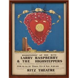 Ritz Theater Larry Raspberry Poster Jim Franklin