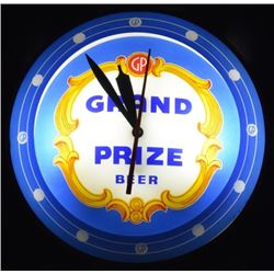 Grand Prize Beer Double Bubble Light Up Clock