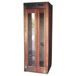 Antique Wooden Phone Booth