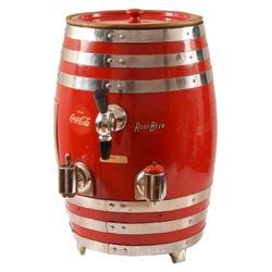 Coca-Cola Root Beer Soda Dispenser Barrel