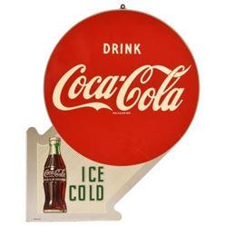 Coca-Cola Flange Tin Sign