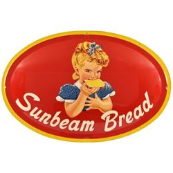 Large Sunbeam Bread Domed Tin Sign