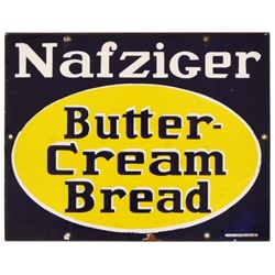 Nafziger Butter-Cream Bread Porcelain Sign