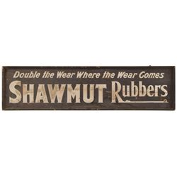 Shawmut Rubbers Advertisement Wooden Sign