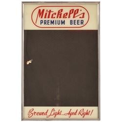 Mitchell's Premium Beer Glass Menu Board