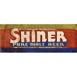 Shiner Beer 2 Sided Wooden Sign
