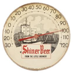 Shiner Beer Advertising Thermometer