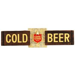 Lone Star Cold Beer Sign