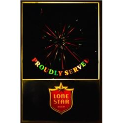 Lone Star Lighted Spinner Sign