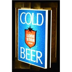 Lone Star Cold Beer Light Up Rotating Sign