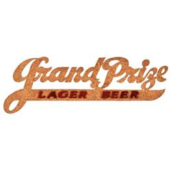 Grand Prize Lager Beer Script Sign