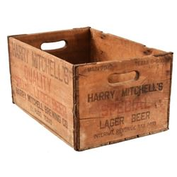 Harry Mitchell Brewing Co. Wooden Beer Crate